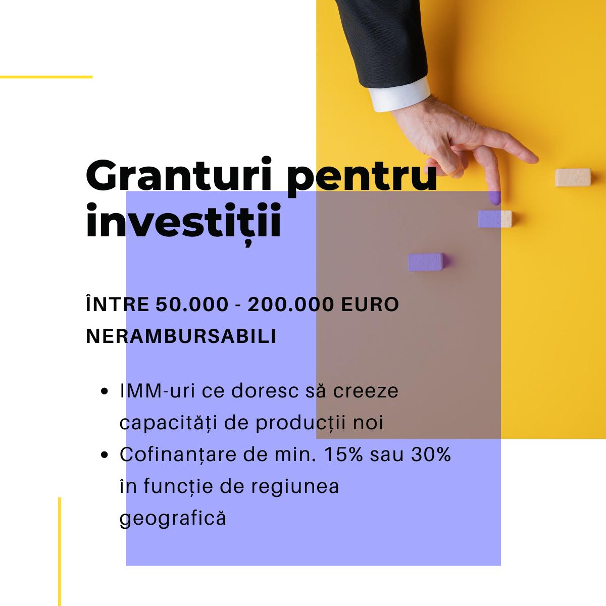 Granturi pentur investitii